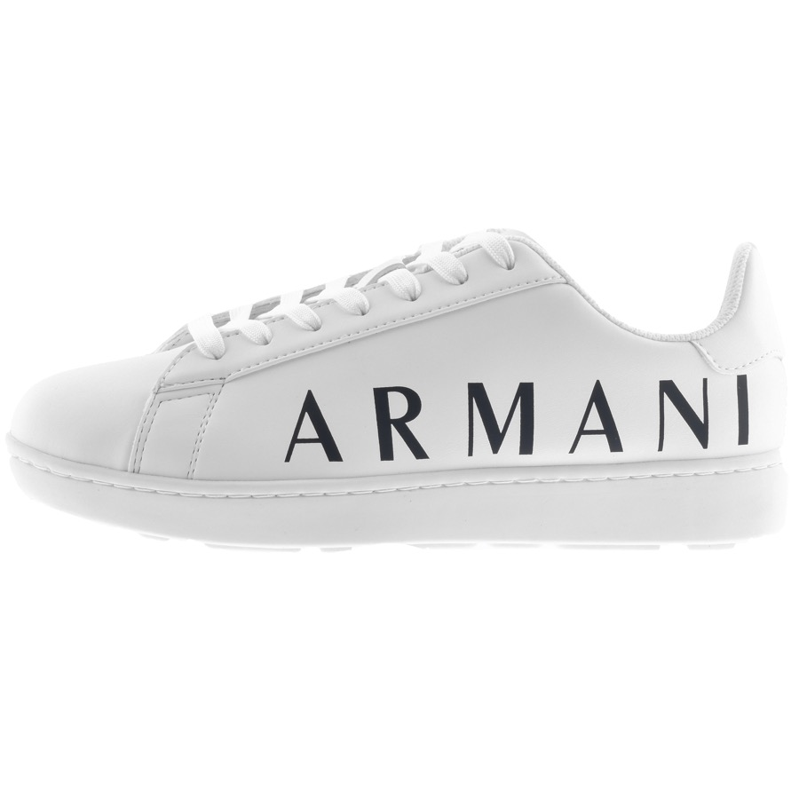 Armani Exchange Logo Trainers White