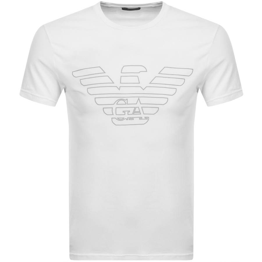 Emporio Armani Lounge Crew Neck T Shirt White