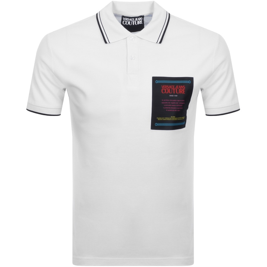 Versace Jeans Couture Short Sleeved Polo White
