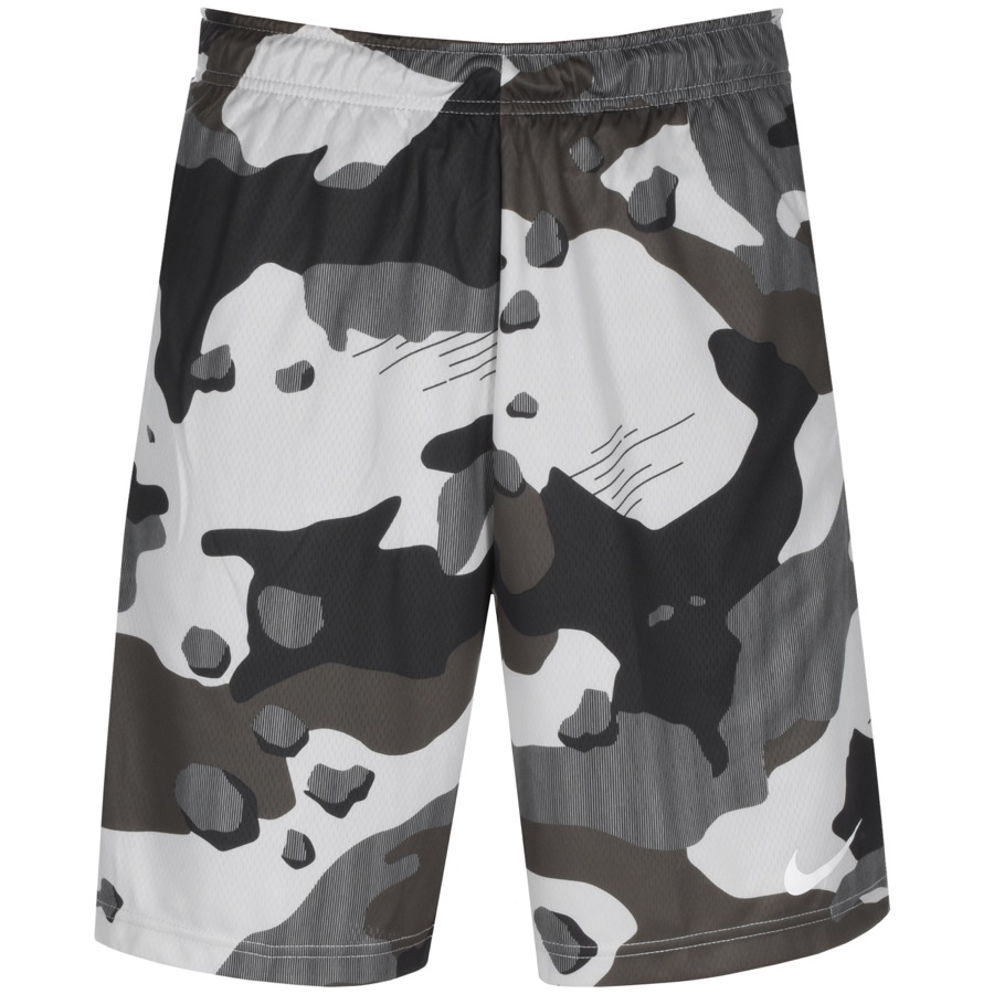 Nike Training Camo Logo Shorts Khaki