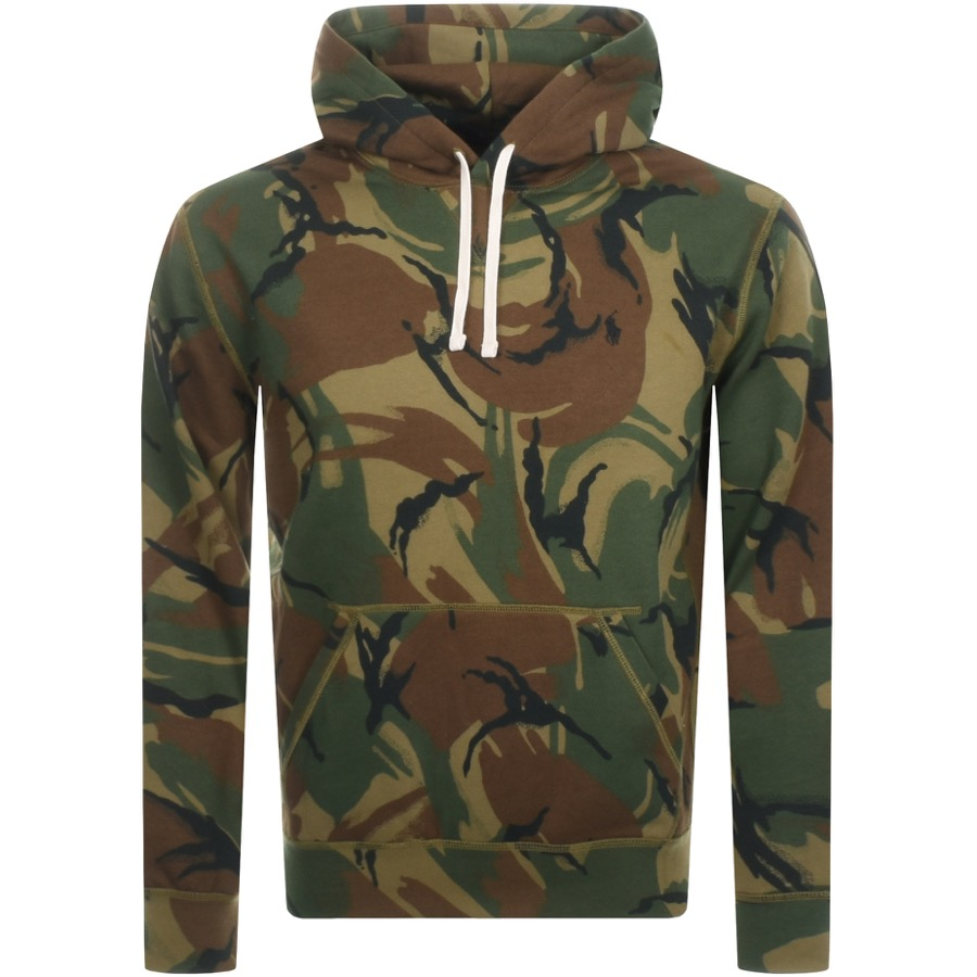 sneakers for cheap c9a7e 2f6f7 Ralph Lauren Pullover Camouflage Hoodie Green | Mainline Menswear