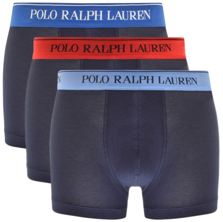 Ralph Lauren Underwear 3 Pack Boxer Shorts Navy