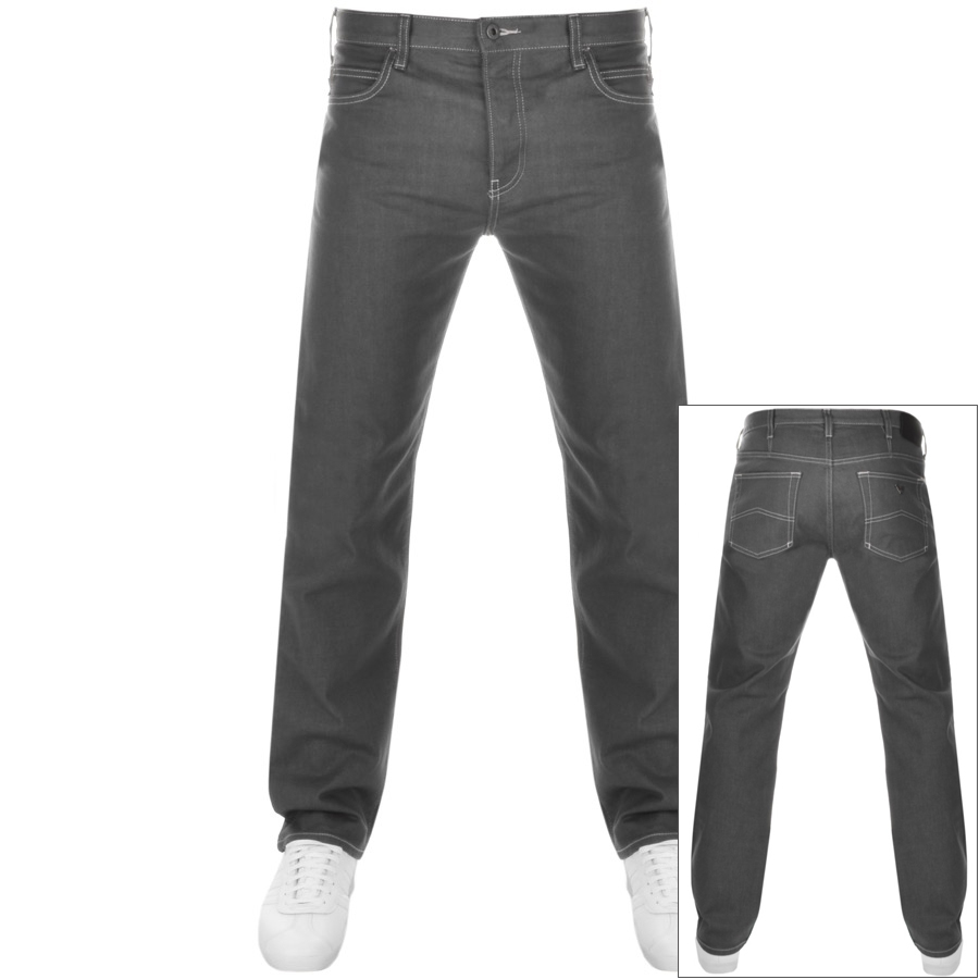 Emporio Armani J21 Regular Fit Jeans Grey