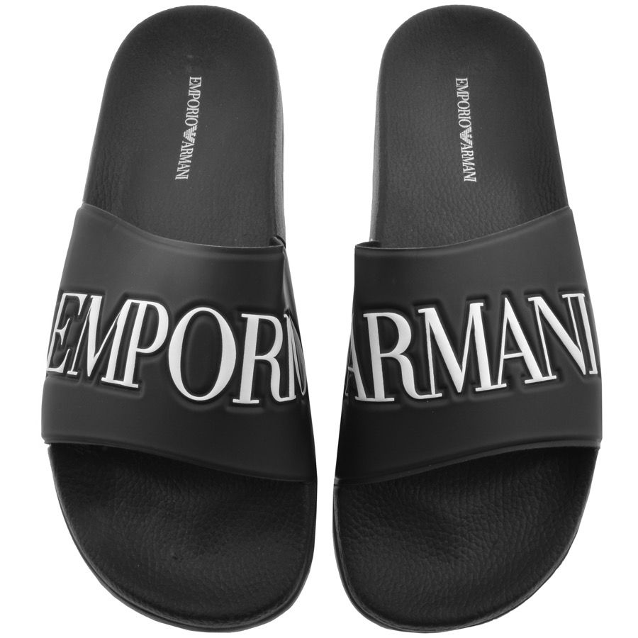 Emporio Armani Zadar Sliders Black