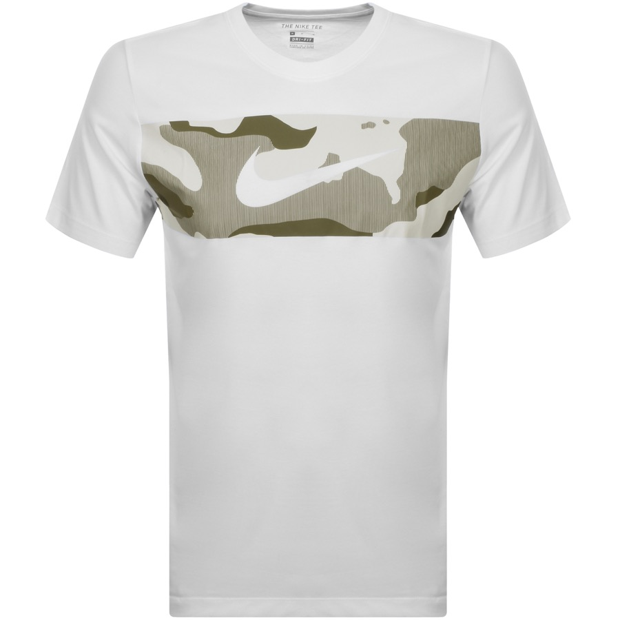 Nike Training Crew Neck Camo T Shirt White