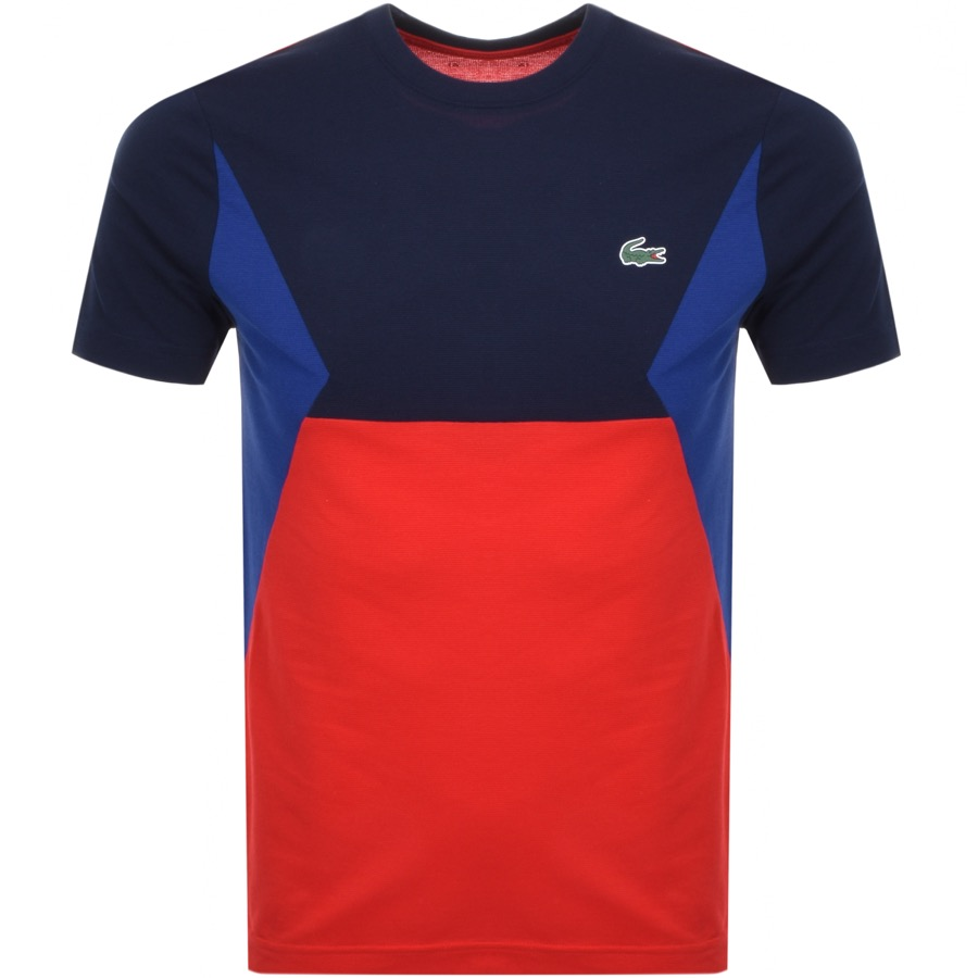 Lacoste Sport Colour Block T Shirt Navy