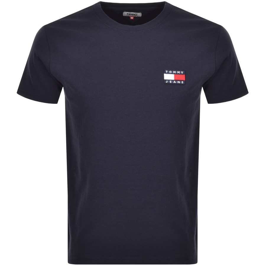 Tommy Jeans Badge Logo T Shirt Navy