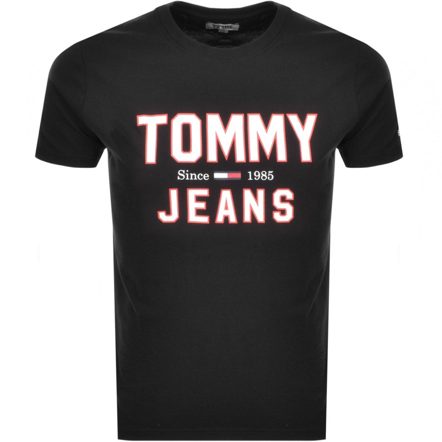 Tommy Jeans  Essential 1985 Logo T Shirt Black