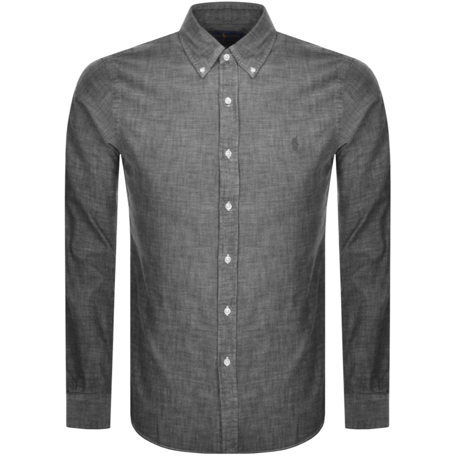 Ralph Lauren Chambray Slim Fit Shirt Grey