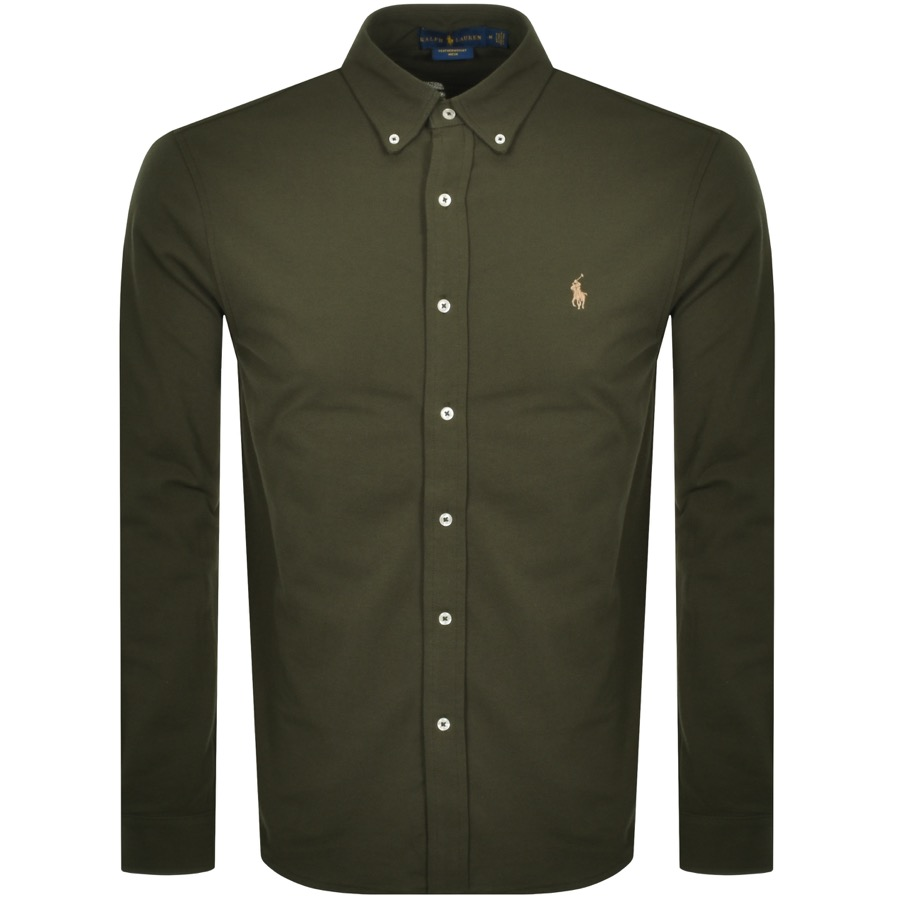 Ralph Lauren Featherweight Mesh Shirt Green
