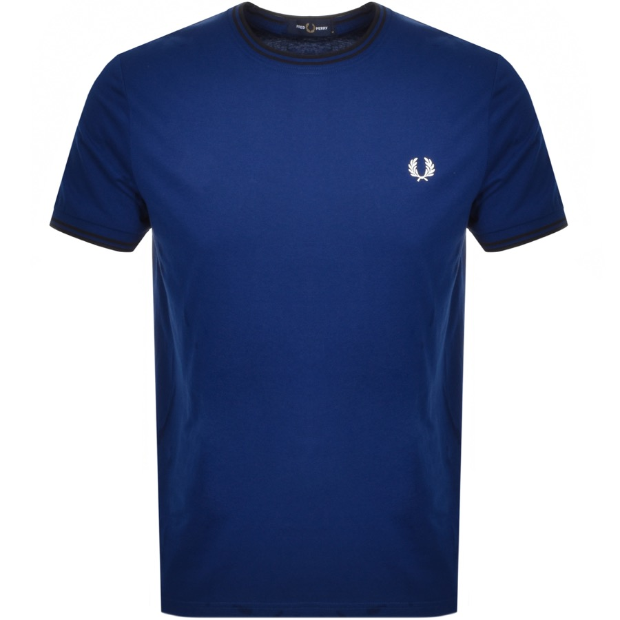 Fred Perry Twin Tipped T Shirt Blue
