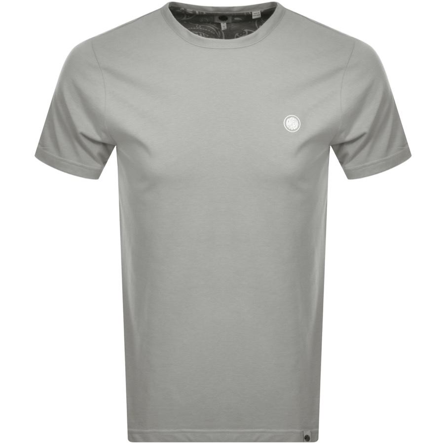 Pretty Green Crew Neck T Shirt Grey