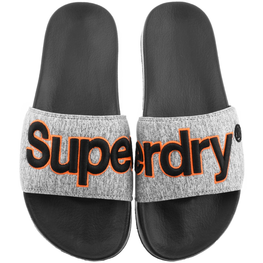 Superdry Classic Logo Sliders Grey