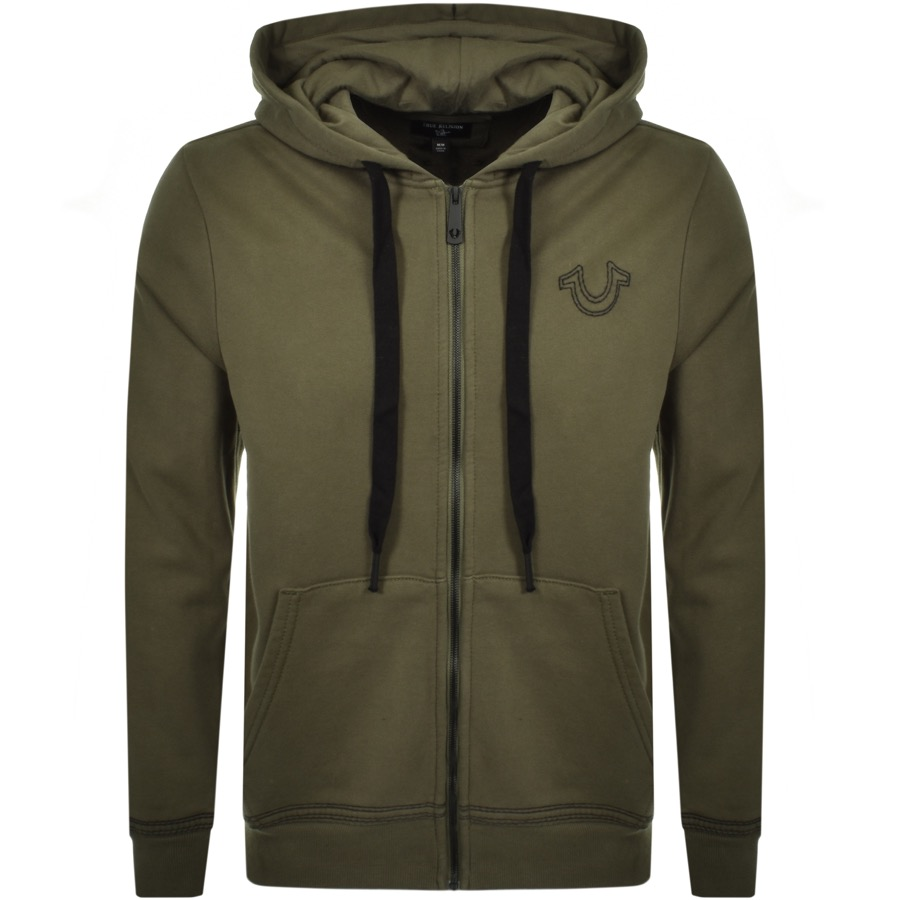 True Religion Full Zip Hoodie Green