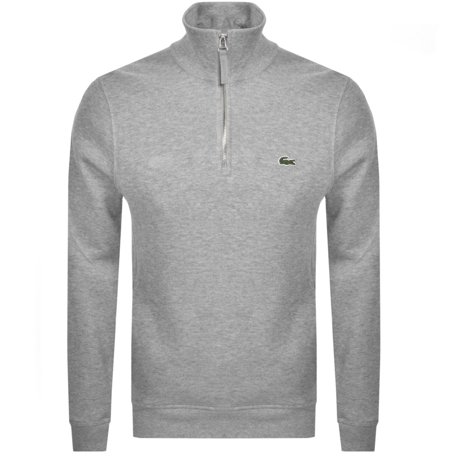 Lacoste Half Zip Sweatshirt Grey