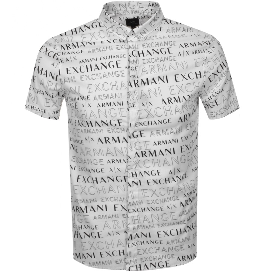 Armani Exchange Short Sleeved Shirt White