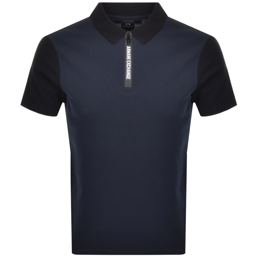 Armani Exchange Short Sleeved Polo T Shirt Navy