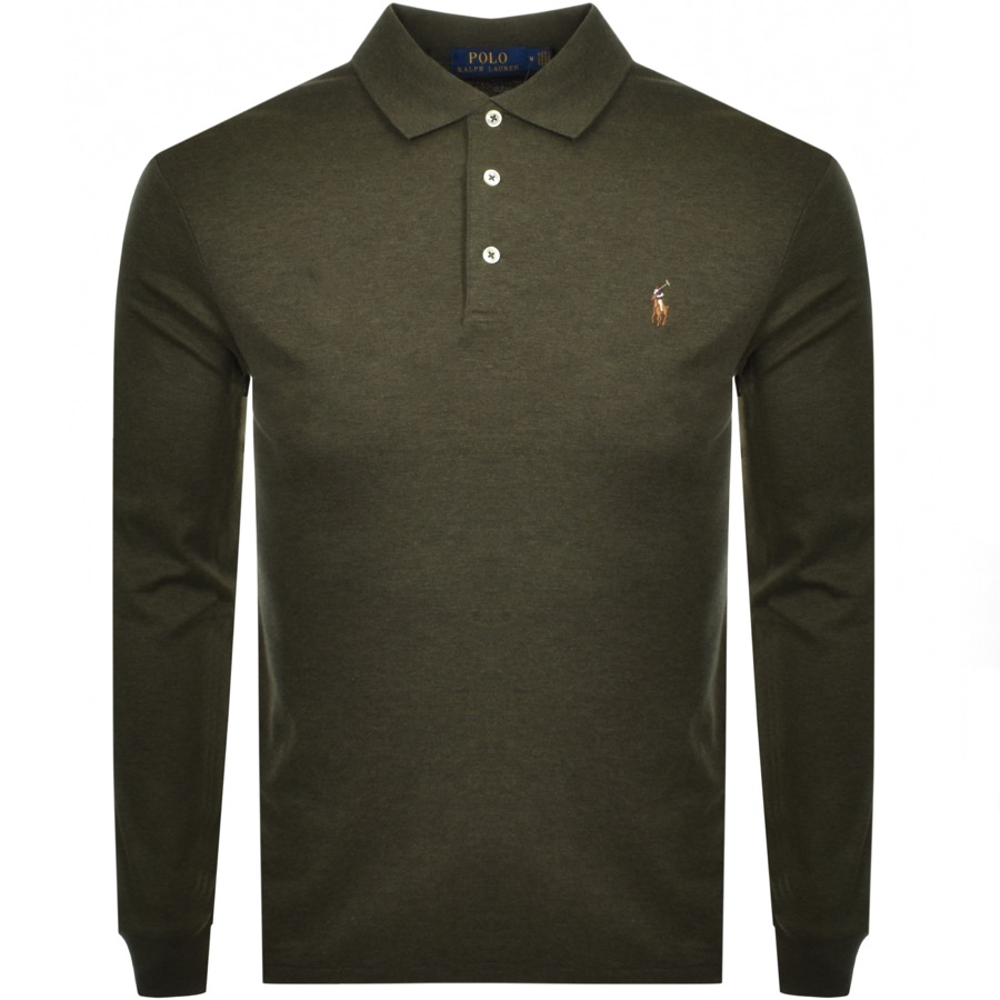 7dfbd268 Ralph Lauren Long Sleeved Polo T Shirt Green | Mainline Menswear