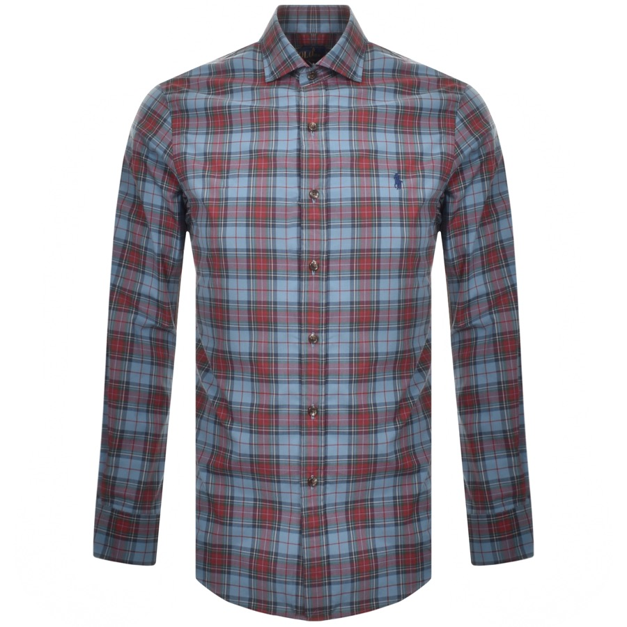 Ralph Lauren Long Sleeved Check Shirt Blue