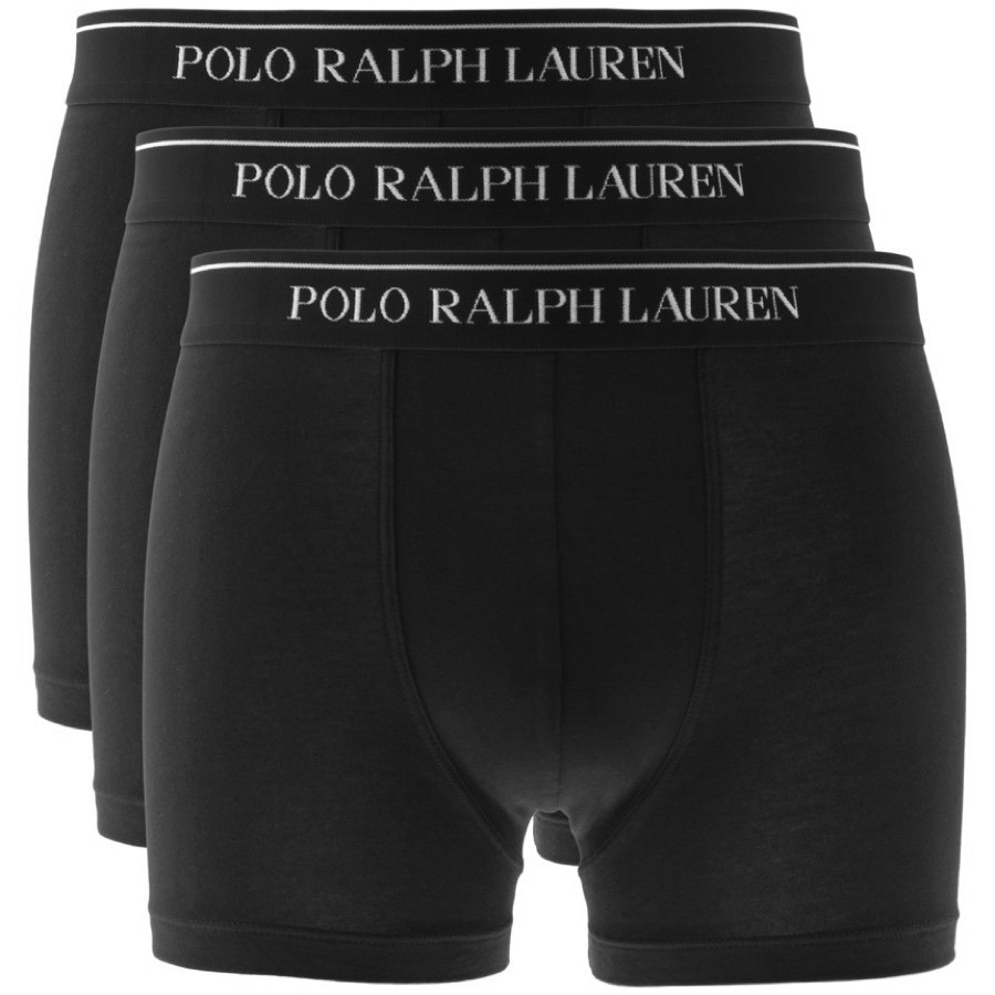 Ralph Lauren Underwear 3 Pack Boxer Shorts Black