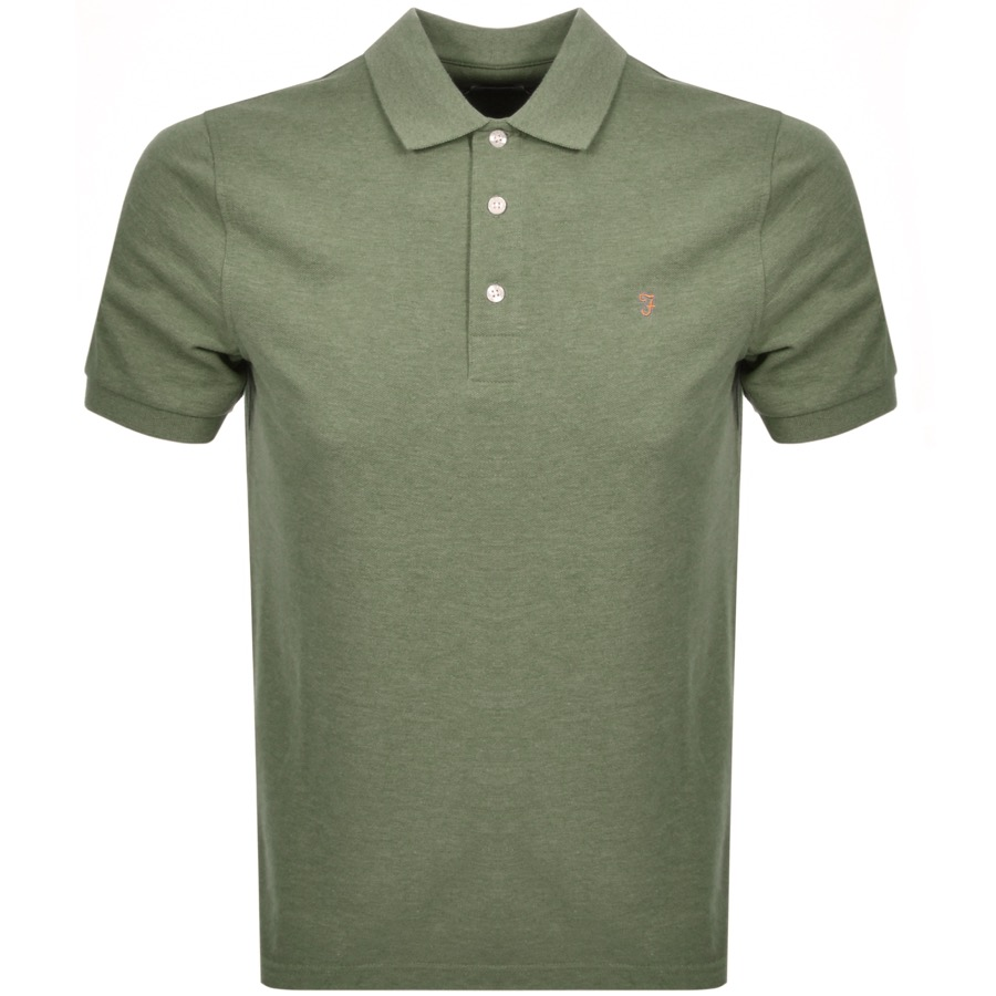 Farah Vintage Short Sleeved Polo T Shirt Green