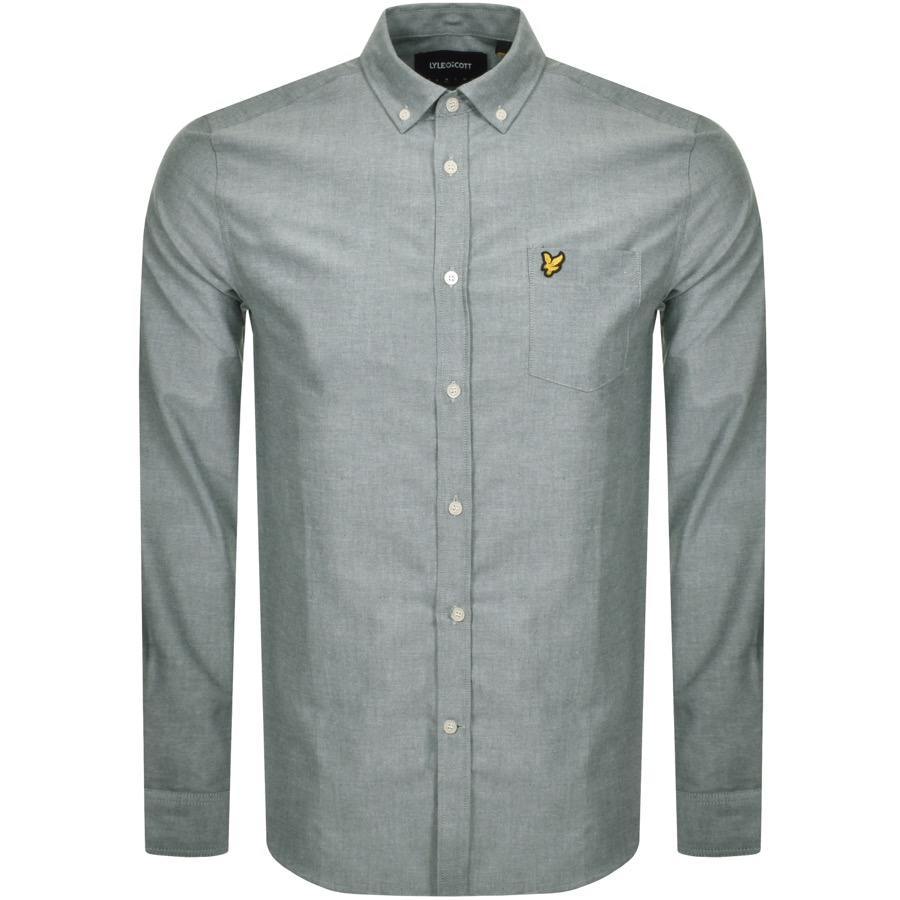 Lyle And Scott Long Sleeve Oxford Shirt Green