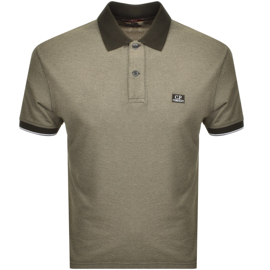 CP Company Short Sleeved Polo T Shirt Green