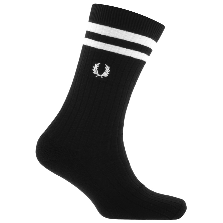 Fred Perry Tipped Socks Black