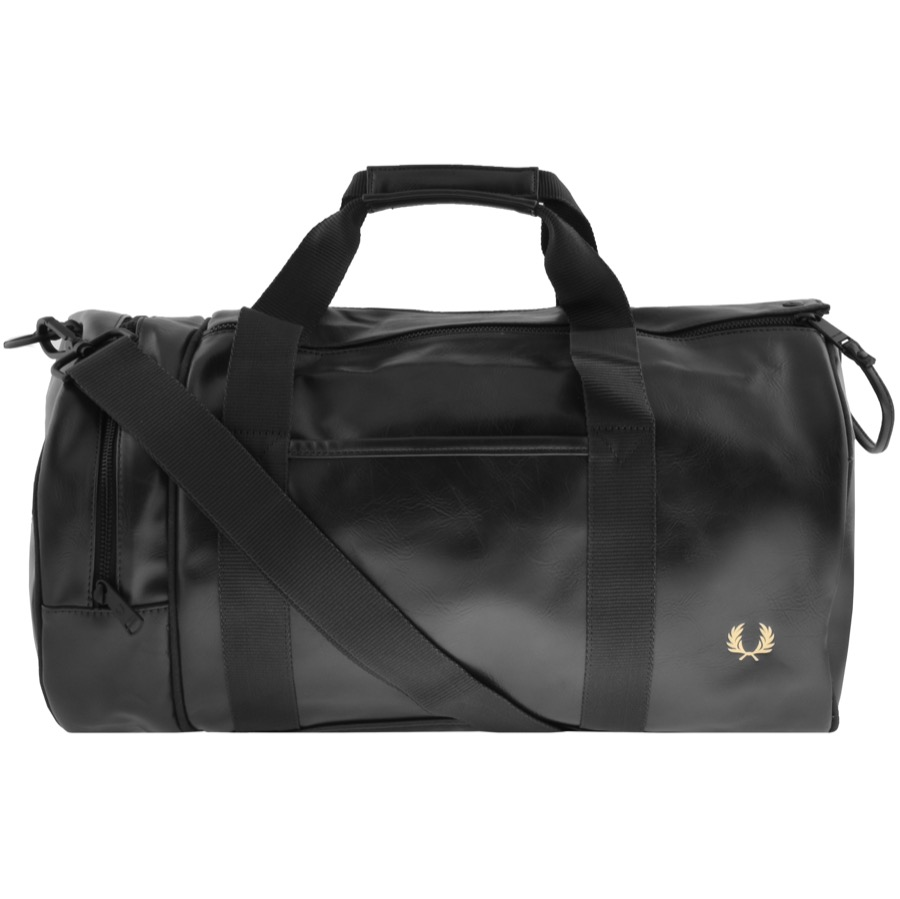 Fred Perry Twin Tonal Barrel Bag Black