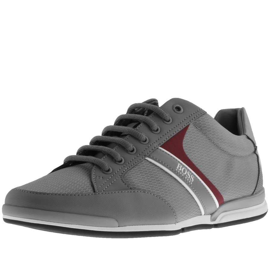 BOSS HUGO BOSS Saturn Lowp Trainers Grey