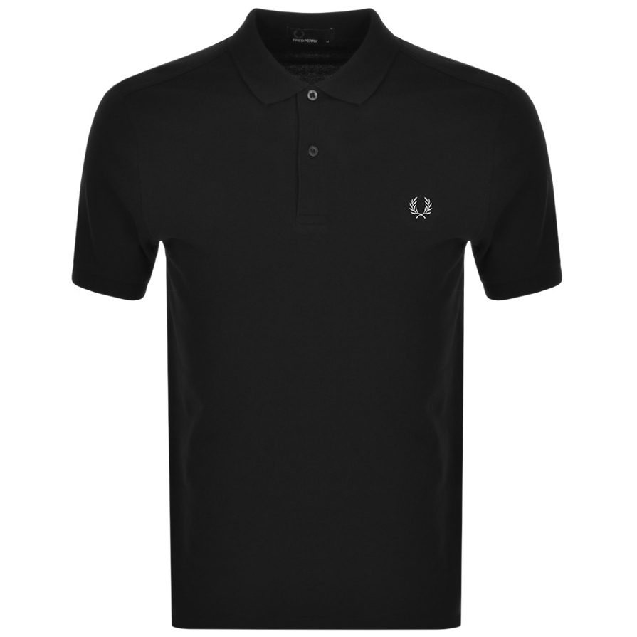Fred Perry Plain Polo T Shirt Black