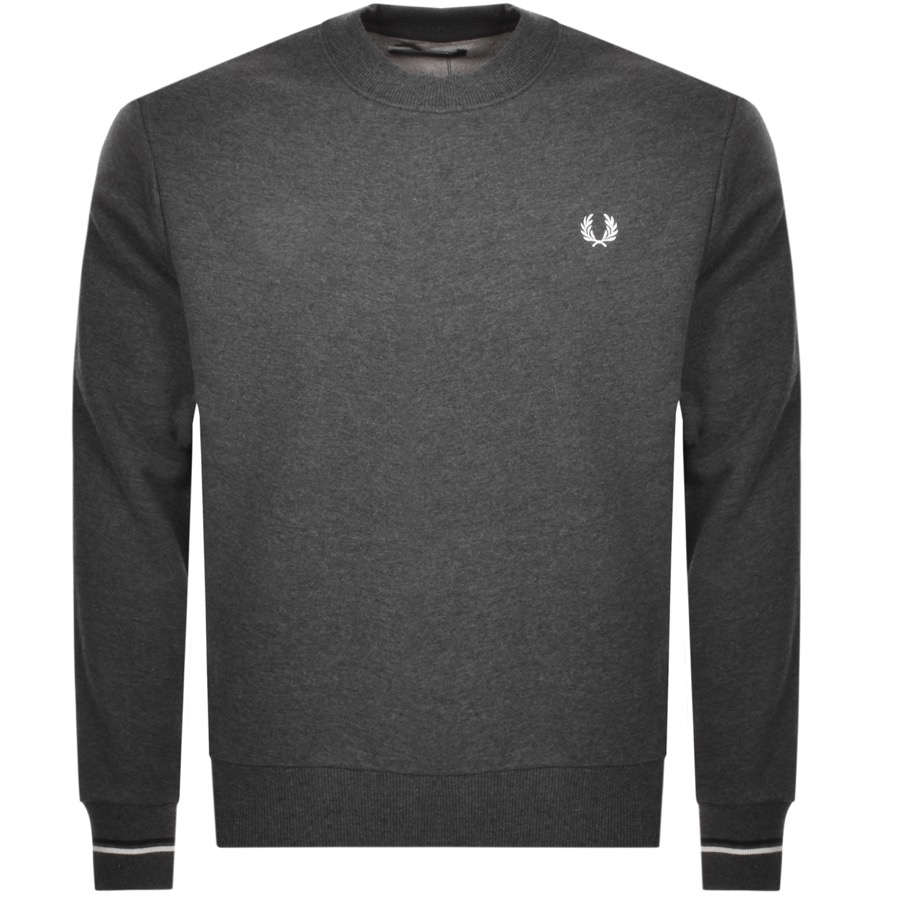 a6aa26e4cee Fred Perry Crew Neck Sweatshirt Grey | Mainline Menswear