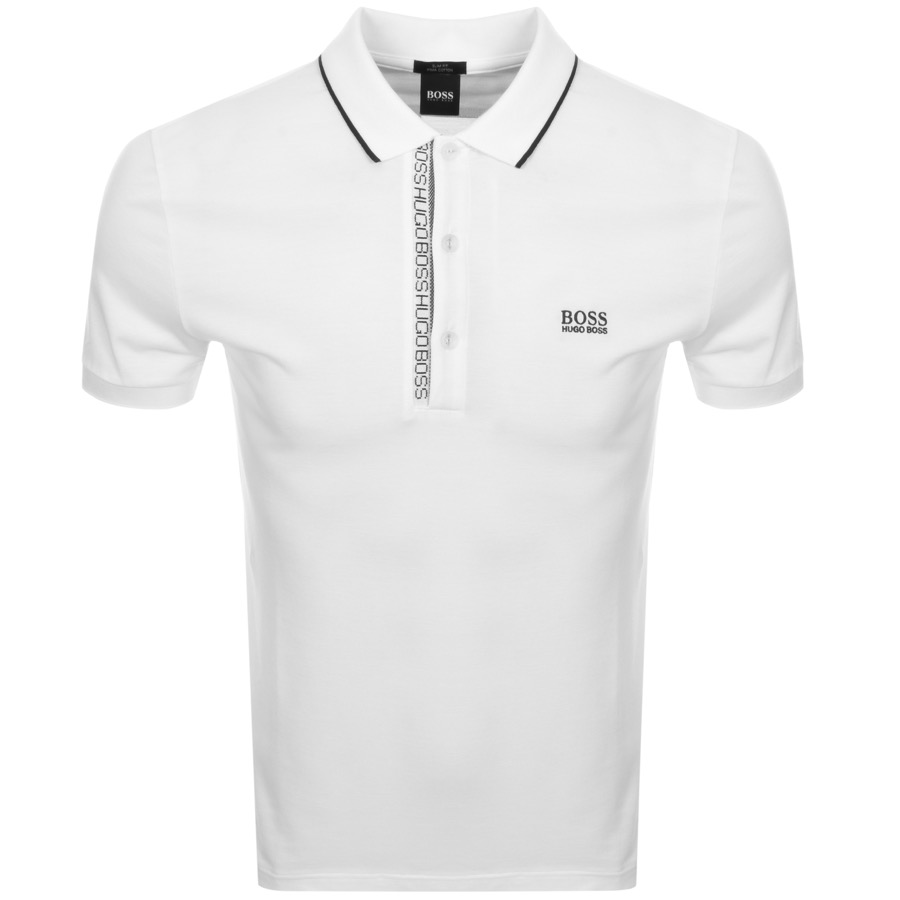 9a2853ad51 Product Image for BOSS Athleisure Paule 4 Jersey Polo T Shirt White