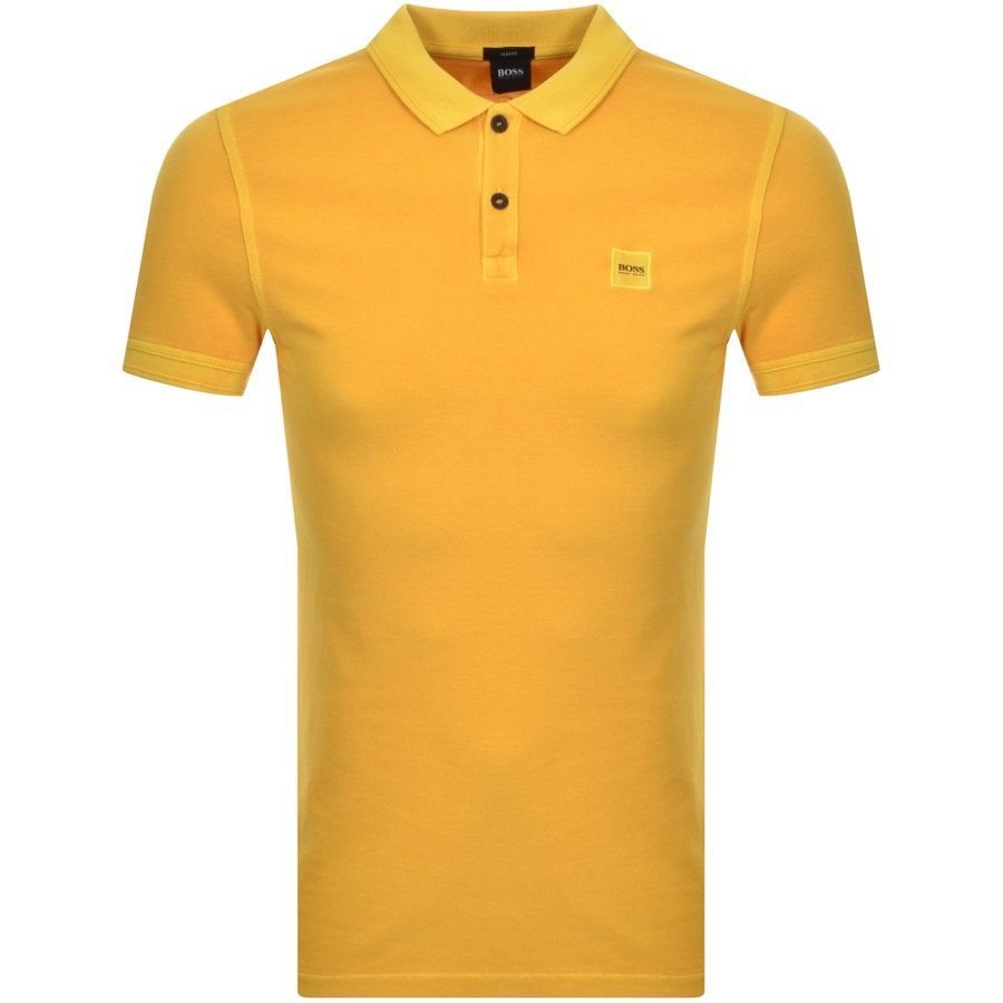 BOSS Casual Prime Polo T Shirt Yellow