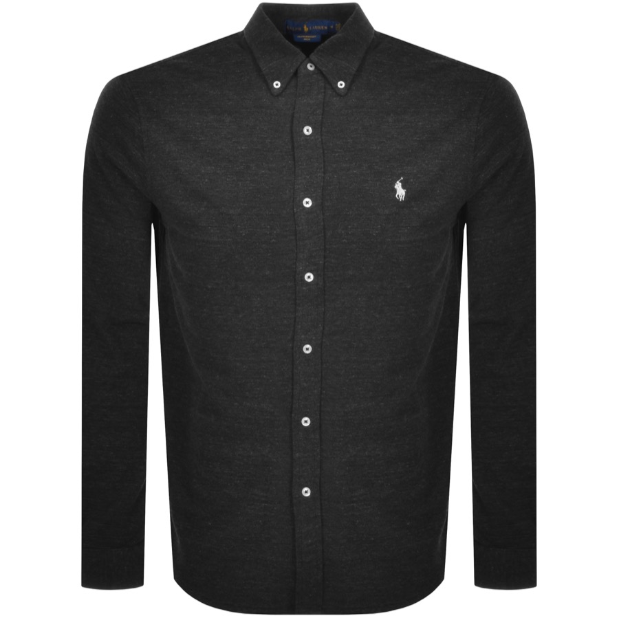 Ralph Lauren Featherweight Mesh Shirt Black