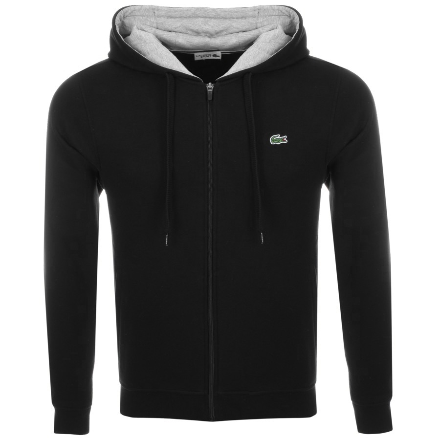 Lacoste Sport Zip Up Hoodie Black