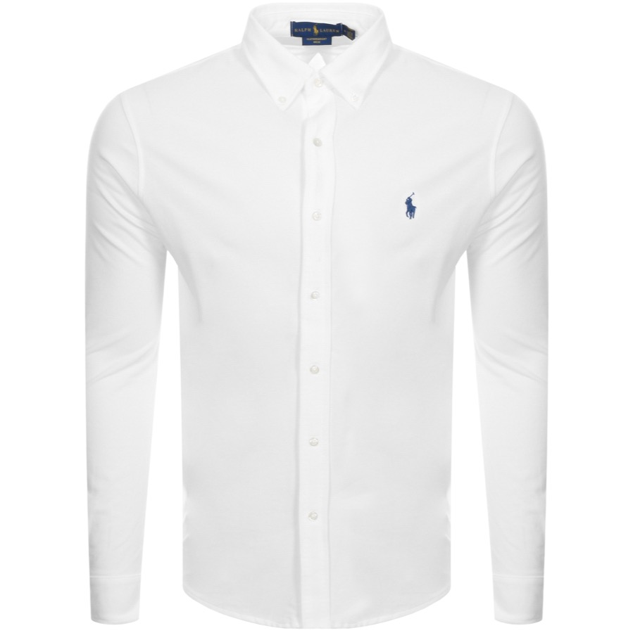 Ralph Lauren Featherweight Mesh Shirt White