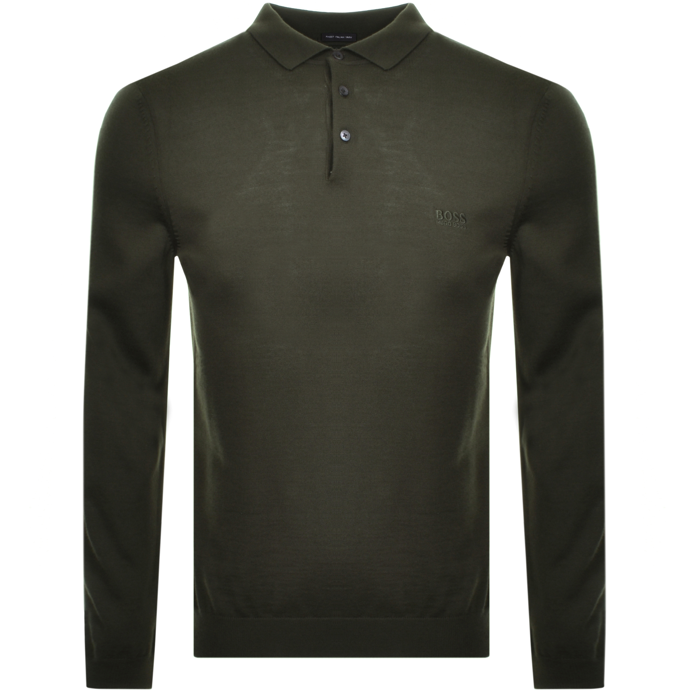 BOSS HUGO BOSS Bono Polo Knit Jumper Green