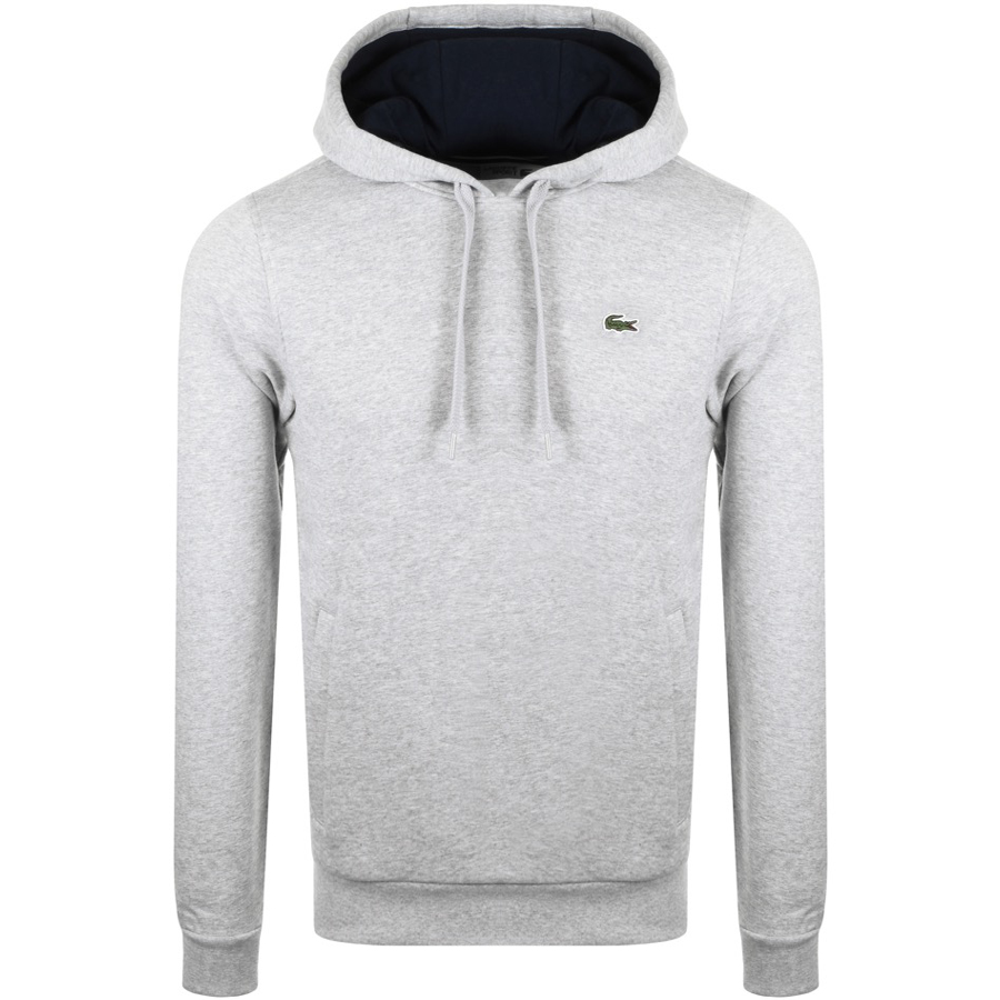 Lacoste Sport Pullover Hoodie Grey