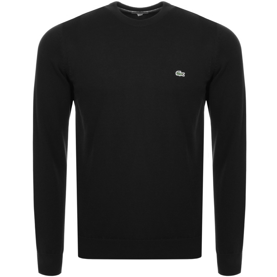 Lacoste Crew Neck Knit Jumper Black