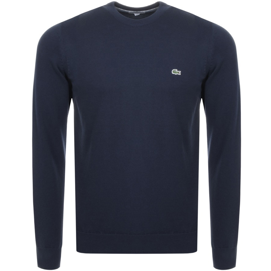 Lacoste Crew Neck Knit Jumper Navy