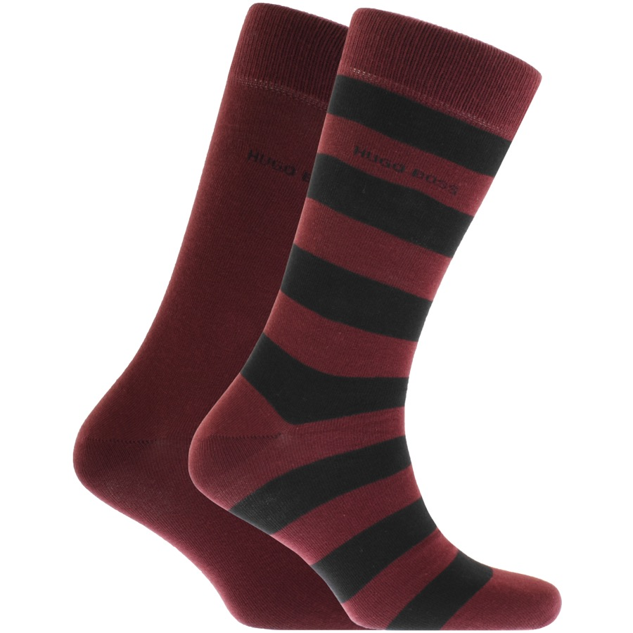 BOSS HUGO BOSS Two Pack Socks Burgundy