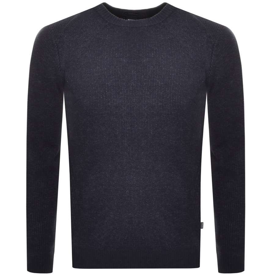 BOSS HUGO BOSS Baraldi Knit Jumper Navy