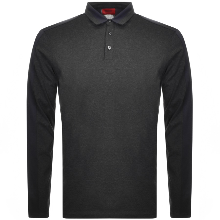 0bbdbee73038 Free Delivery. Return. Product Image for HUGO Dengaluru Long Sleeved Polo T  Shirt Grey
