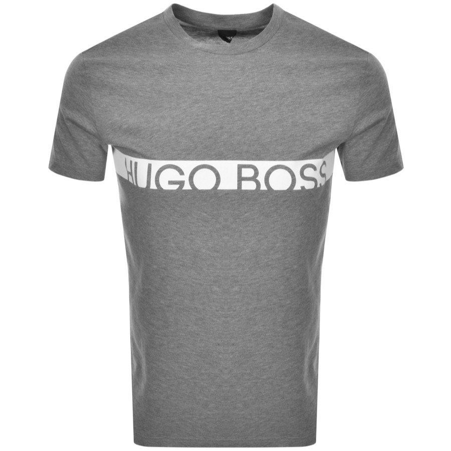 BOSS HUGO BOSS Slim Fit UV Logo T Shirt Grey