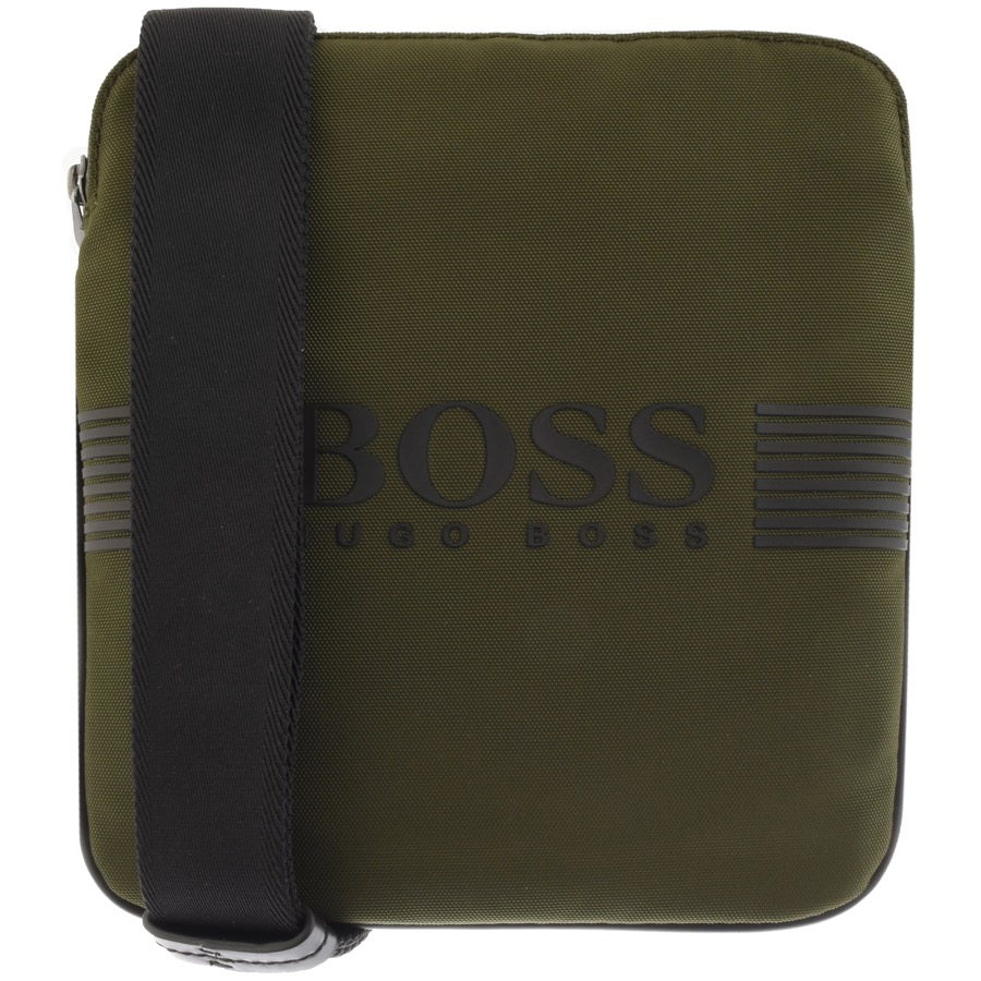BOSS Athleisure Pixel Shoulder Bag Green