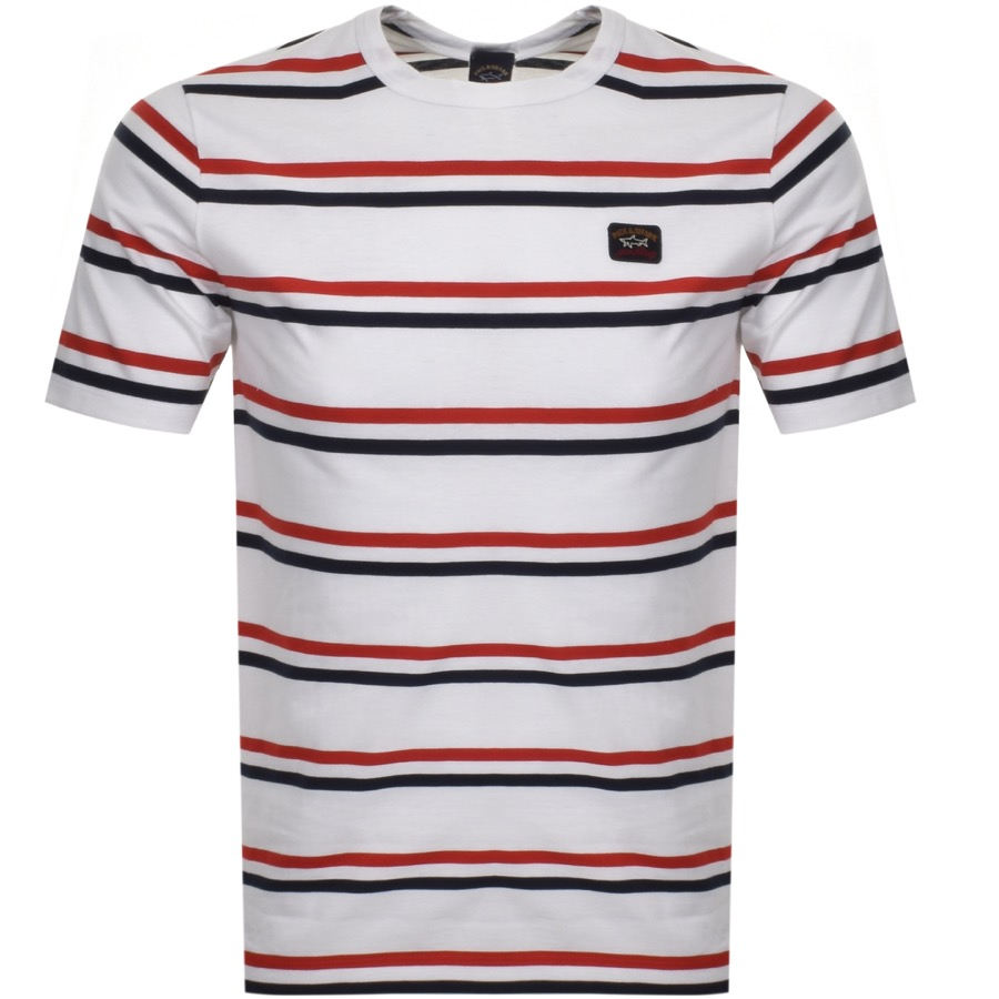 6375213a9dc6 Free Delivery. Return. Product Image for Paul And Shark Striped Logo T  Shirt White