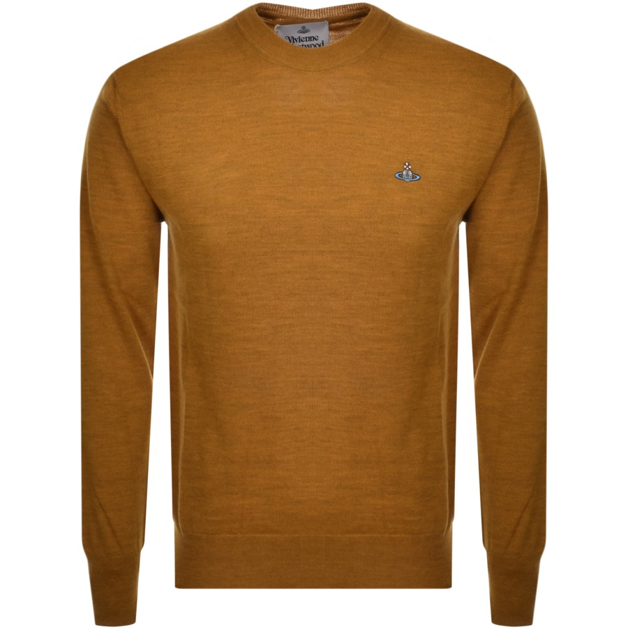 Vivienne Westwood Crew Neck Knit Jumper Brown