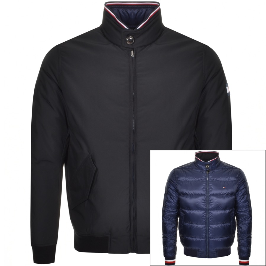 610f106185 Tommy Hilfiger Reversible Harrington Jacket Navy | Mainline Menswear