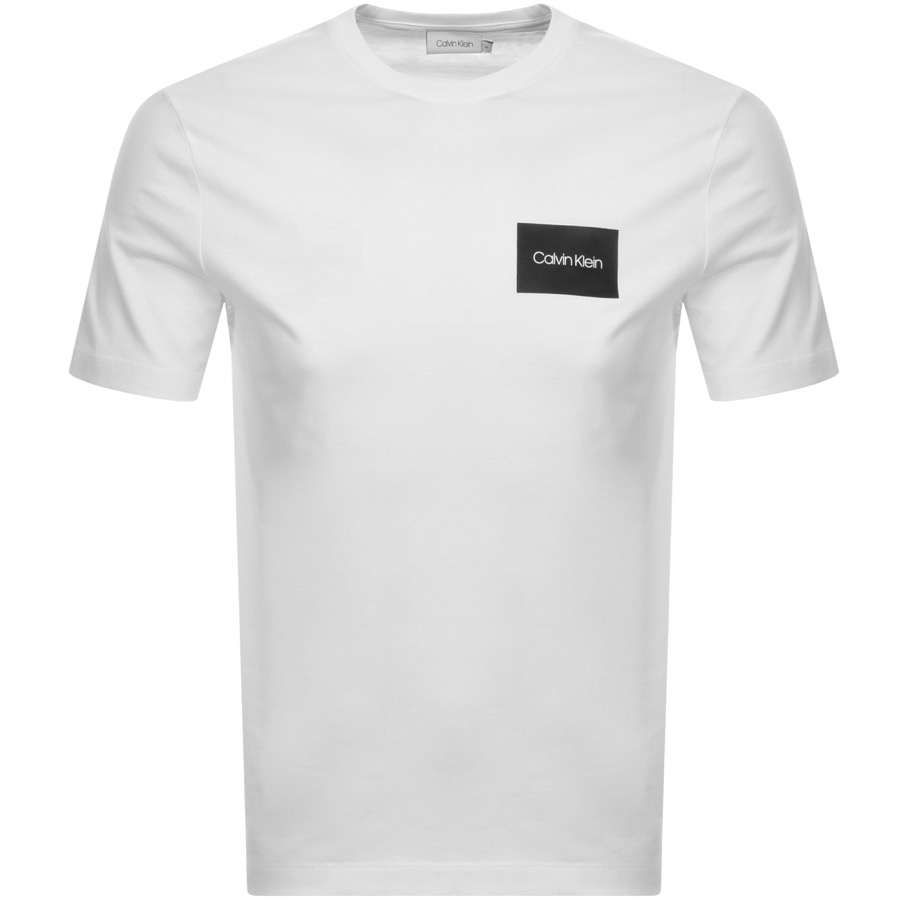 e3843bbfda51 Product Image for Calvin Klein Box Logo T Shirt White